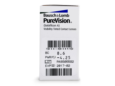 PureVision (6lenses) - Attributes preview