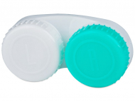 Contact Lens Case - Lens Case Green and White with L/R marking