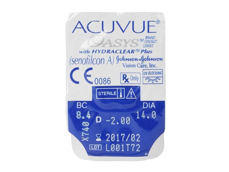 Blister pack preview - Acuvue Oasys (6 lenses)