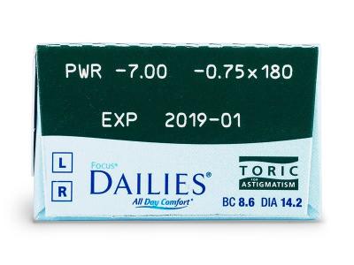 Focus Dailies Toric (30lenses) - Attributes preview