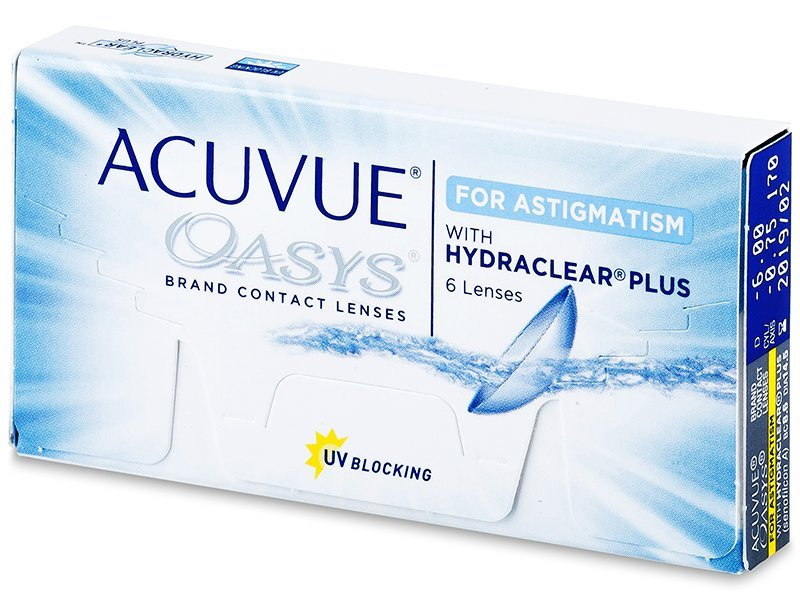 Acuvue Oasys for Astigmatism (6 lenses) - Toric contact lenses