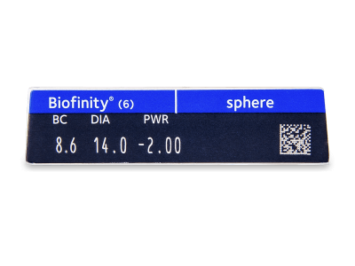 Biofinity (6lenses) - Attributes preview