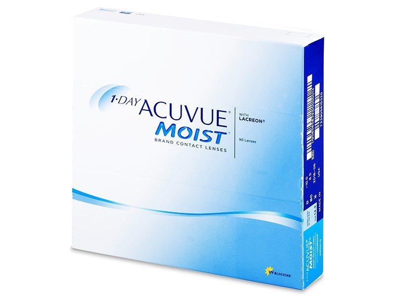 1 Day Acuvue Moist (90 lenses) - Daily contact lenses