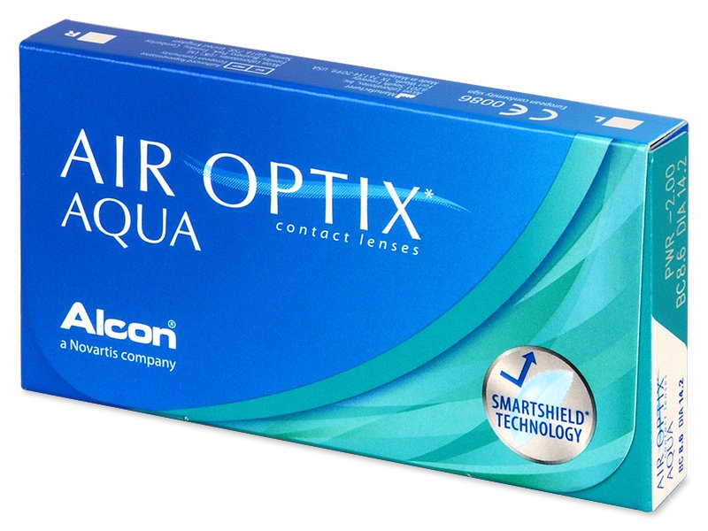 Air Optix Aqua (6 lenses) - Monthly contact lenses