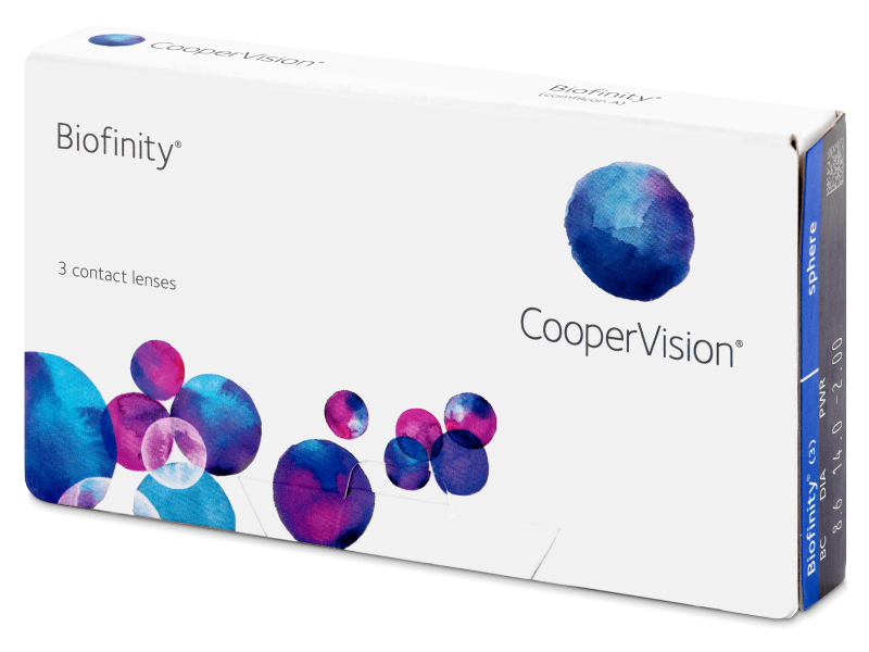 Biofinity (3lenses) - Monthly contact lenses