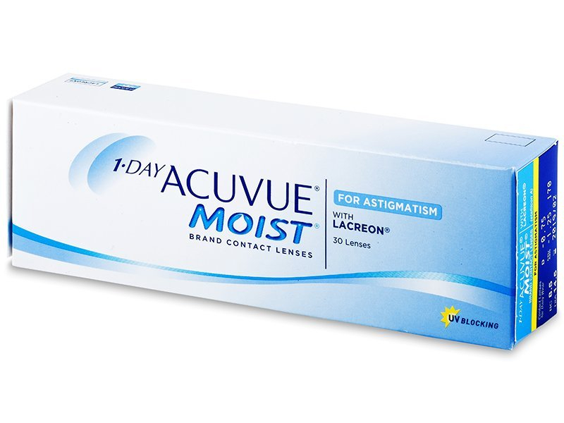 1 Day Acuvue Moist for Astigmatism (30 lenses) - Toric contact lenses