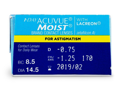 1 Day Acuvue Moist for Astigmatism (30 lenses) - Attributes preview